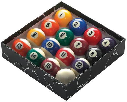 Powerglide poolballen 57,2 mm hars 17 delig