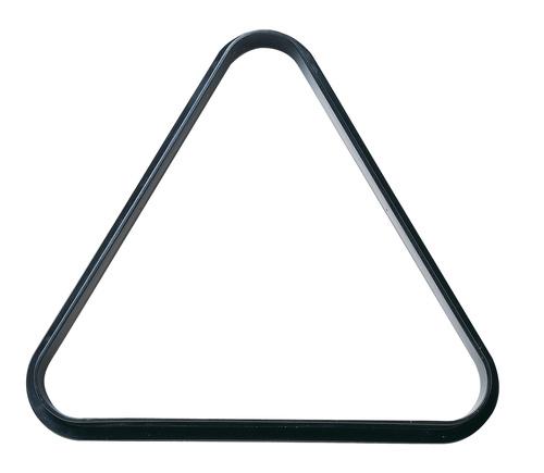 Powerglide triangle snooker/pool 47,5 cm polyetheen zwart