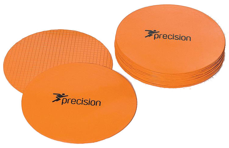 Precision Large Round Rubber Marker Discs Orange (Set of 20)