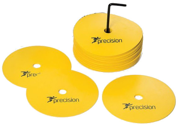 Precision Medium Round Rubber Marker Discs Yellow (Set of 20)