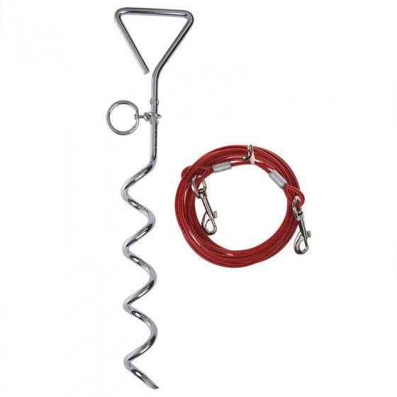 ProPlus aanlegspiraal 40 cm met kabel 4,5 meter staal