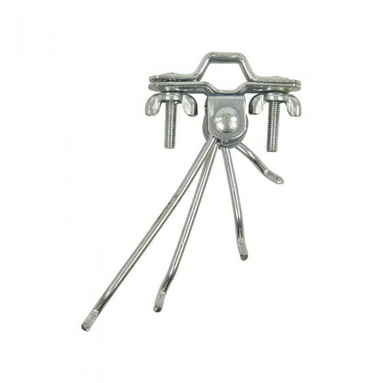 ProPlus draadkapstok 4 armig chroom 12,5 cm per stuk in blister