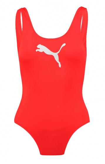 Puma badpak dames polyamide rood maat M
