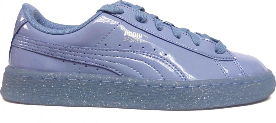 Puma Sneakers Panier Paillettes Roze Junior Glacé Brevet utZ6v