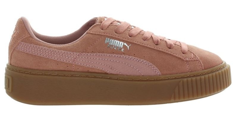 Baskets Suede Platform Animal Mesdames rose taille 40,5