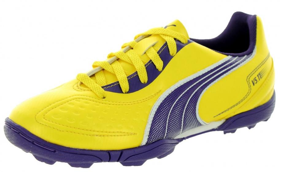 Puma Voetbalschoenen V5.11 TT heren geel-blauw maat 43