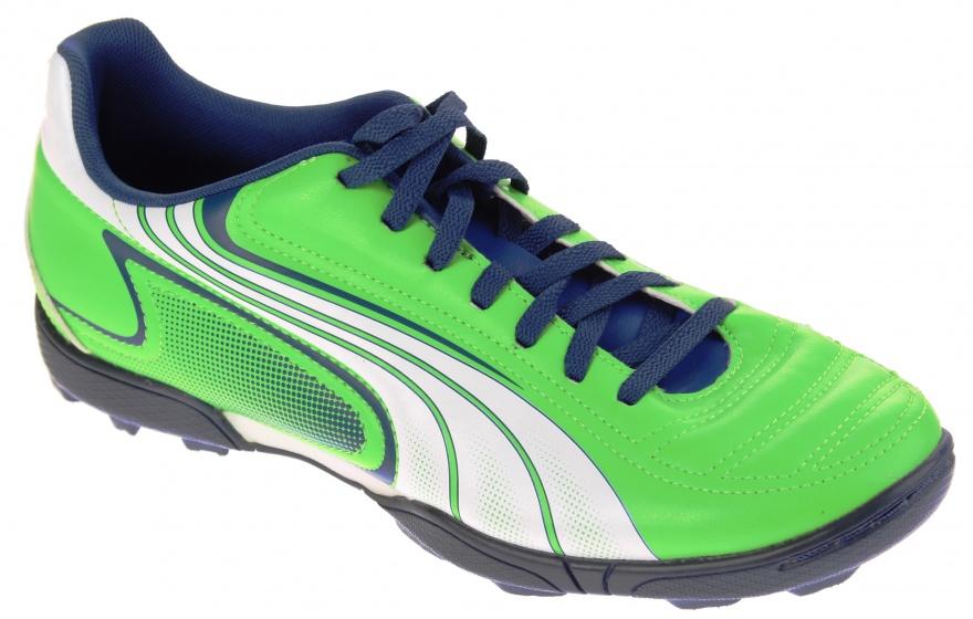 Puma Voetbalschoenen V6.11 TT heren groen-blauw maat 40.5