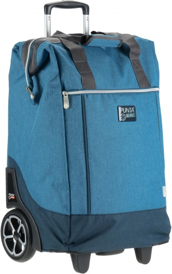 Punta trolley shopper Big Wheel blauw 40 liter