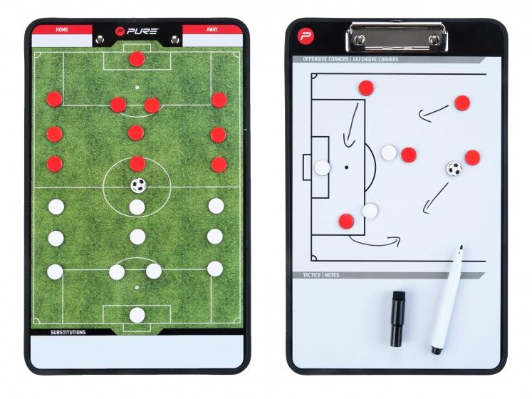 Pure2improve coachbord voetbal gebruik dit handige coachboard voor het bespreken van de tactiek. op de ene ...