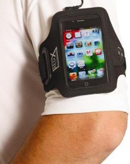 Red X Iphone 4 Armband Zwart-Grijs