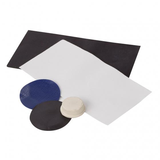 Regatta camping reparatieset polyester-rubber blauw-zwart-wit 5 delig