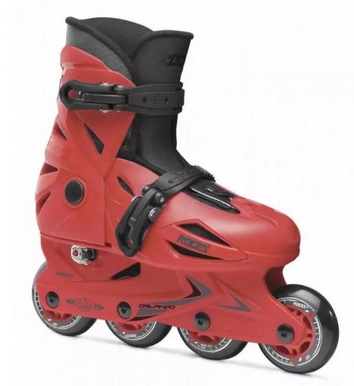 Roces inlineskates Orlando III junior aluminium rood maat 36 40