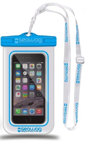 Seawag waterdichte smartphone beschermhoes wit-blauw 5,7 inch