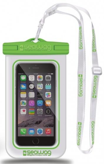 Seawag waterdichte smartphone beschermhoes wit-groen 5,7 inch