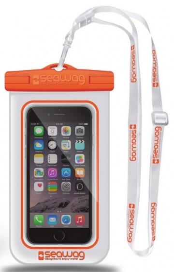 Seawag waterdichte smartphone beschermhoes wit-oranje 5,7 inch