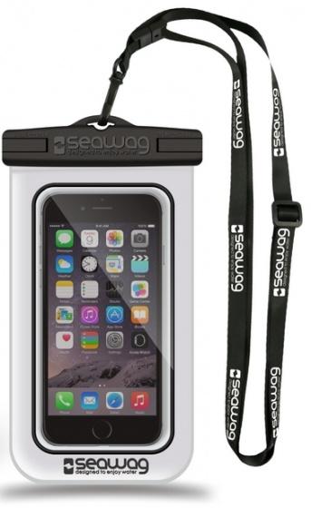 Seawag waterdichte smartphone beschermhoes wit-zwart 5,7 inch