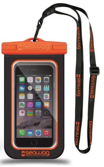 Seawag waterdichte smartphone beschermhoes zwart-oranje 5,7 inch