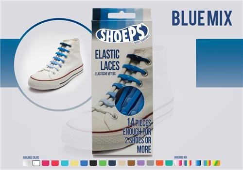 Shoeps Elastische veters blue mix