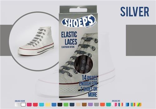 Shoeps Elastische veters zilver