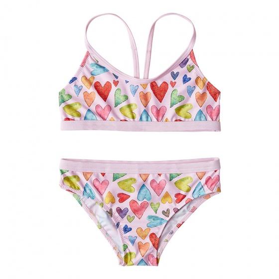 Slipstop bikini Minty roze meisjes maat 110