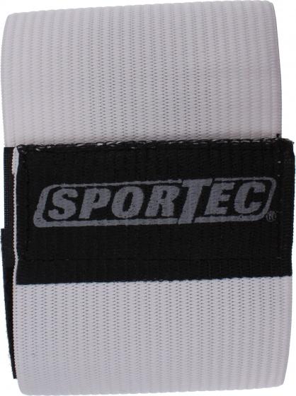 Sportec aanvoerdersband velcro wit