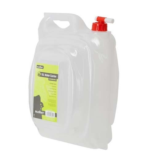 Summit jerrycan met kraan 15 liter kunststof wit