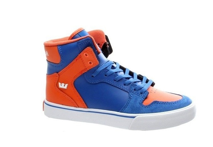 332c96e8870 Supra Schoenen Kids Vaider Blauw-Oranje Maat 38.5