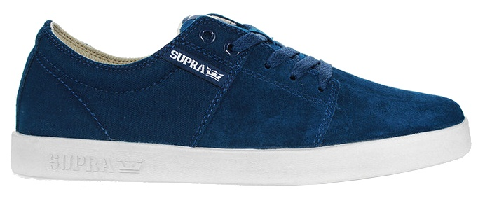 Supra Empile Ii Mens Chaussures Denim Bleu Blanc 6i4FBF