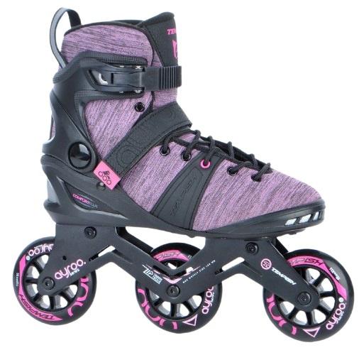 Tempish Ayroo 3x90 Lady skates Zwart-Middenroze