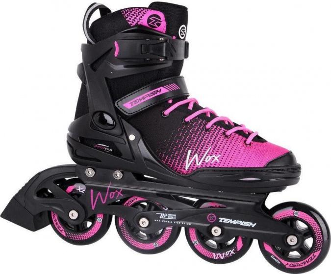 Tempish rolschaatsen Wox 84 dames zwart-roze maat 37