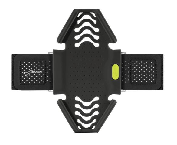 Bone Telefoonhouder Arm Polsband Run Tie black (L)