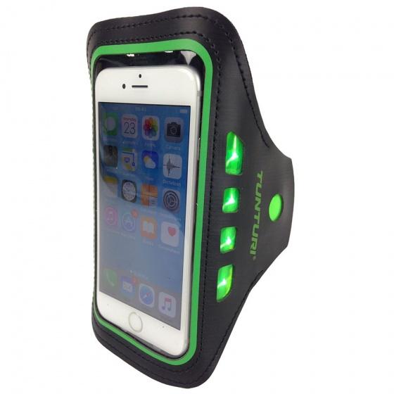Tunturi LED Telefoon Sport Armband groen