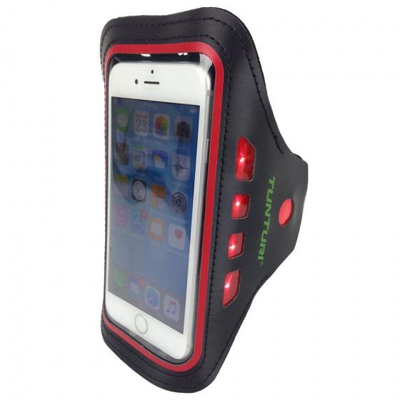 Tunturi LED Telefoon Sport Armband rood