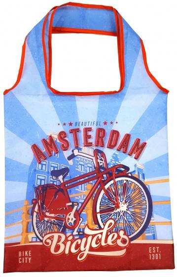 Matix tas Amsterdam Bicycles Bridge 40 cm nylon blauw-rood