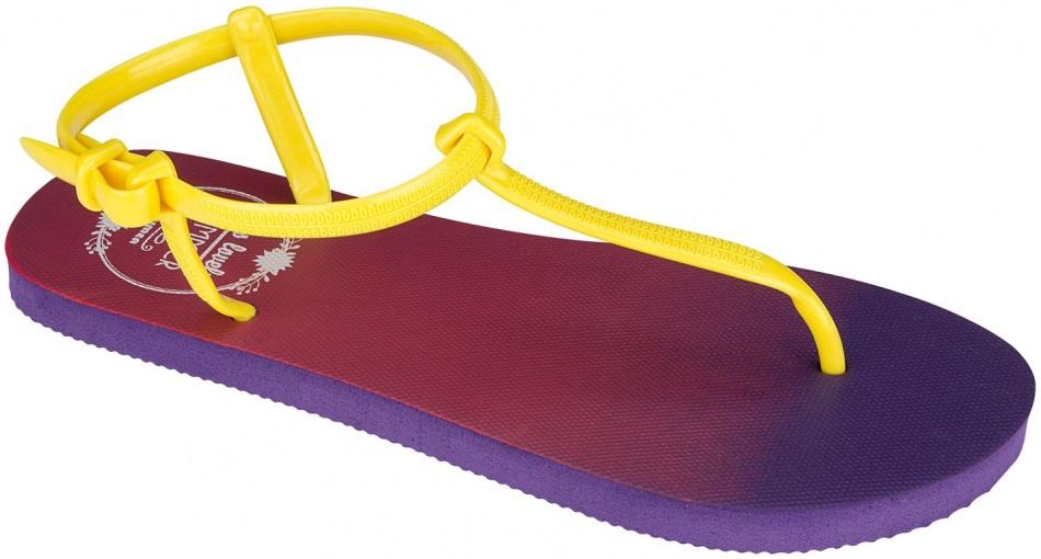 Waimea Teenslippers dames paars/geel