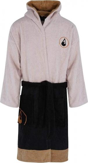 Wave Hawaii badjas Siete katoen beige/zwart maat XL
