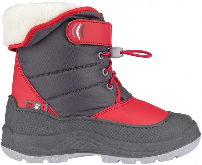 Winter-grip Snowboots Hoppin « Bieber Filles Mt Gris / Rose 35 obEg513