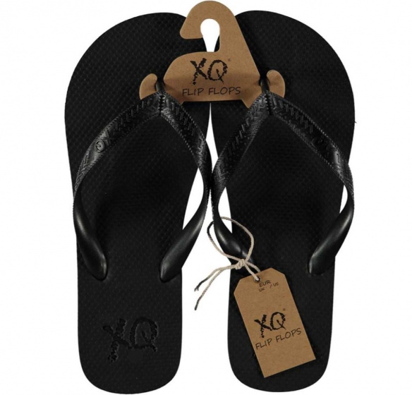 XQ Footwear teenslipper heren polyester zwart