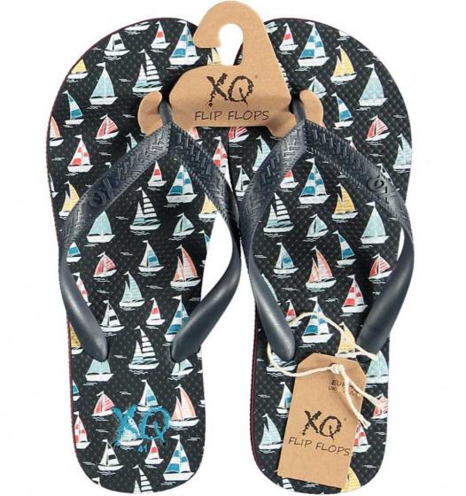 XQ Footwear teenslipper zeilboot jongens EVA zwart