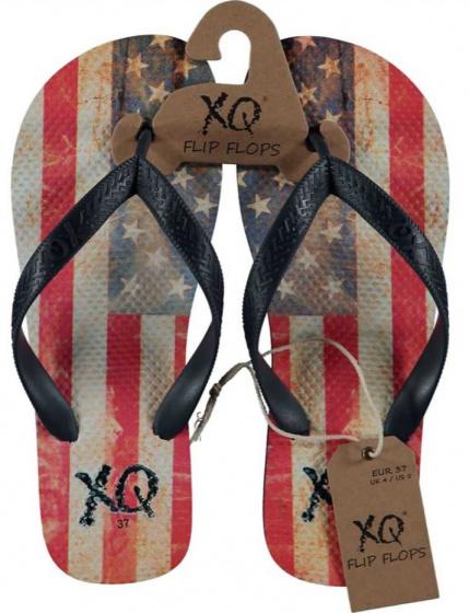 XQ Footwear teenslippers America jongens EVA rood/wit/blauw