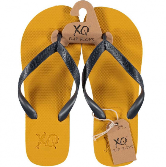 XQ Footwear teenslipper heren polyester geel