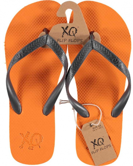 XQ Footwear teenslippers heren polyester oranje/antraciet