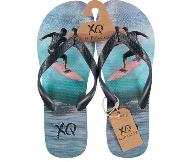 XQ Footwear teenslippers surfer heren EVA lichtblauw