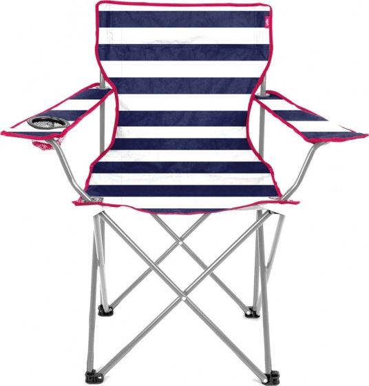 Yello campingstoeltje 53 x 35 x 35 cm junior blauw-wit