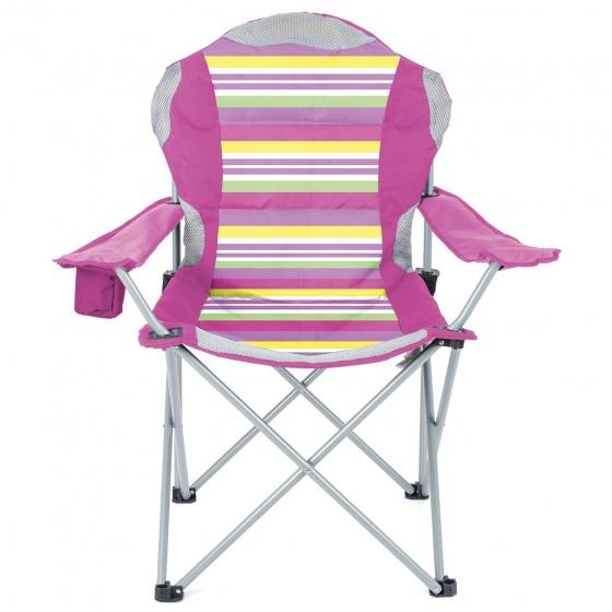 Yello campingstoel Deluxe 48 x 81 x 85 cm unisex roze