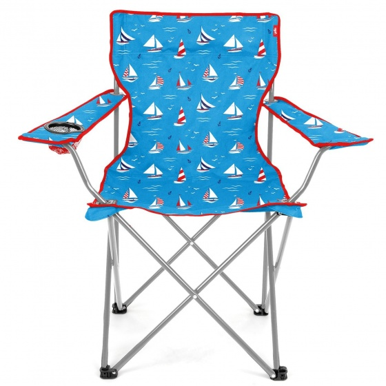 Yello campingstoel zeilboot 48 x 81 x 85 cm unisex blauw