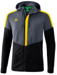 Erima trainingsjack Squad junior polyester geel/zwart