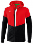 Erima trainingsjack Squad junior polyester rood/zwart