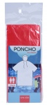 Free and Easy regenponcho unisex rood one size