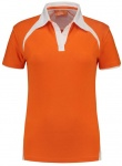 Lemon & Soda polo Premium dames oranje
